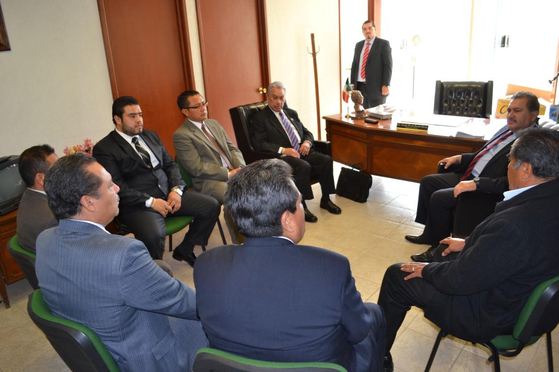 Reunión de trabajo Secretario General con líder de Puebla y Atlixco